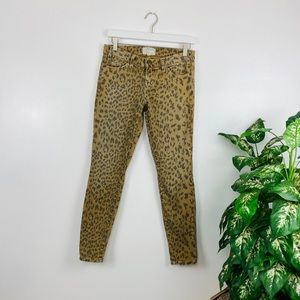 Current/Elliott Animal Print Jeans